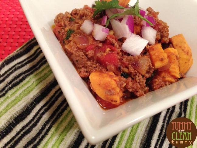 Bison and Sweet Potato Chili | Yummy Tummy Paleo