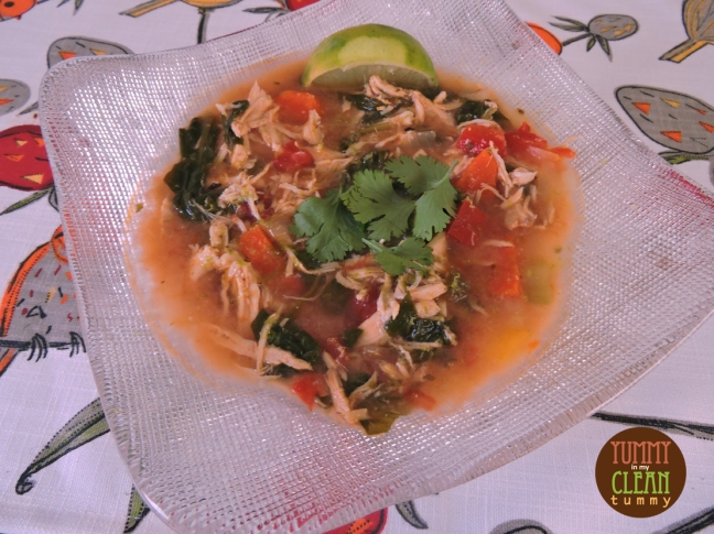 Chicken Veggie and Lime Soup | Yummy in my Clean Tummy