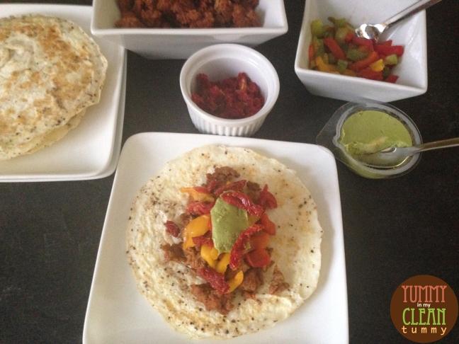 Chorizo Omelette Tacos | Yummy in my Clean Tummy