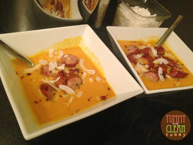 Coconut Ginger Carrot Soup | Yummy in my Clean Tummy