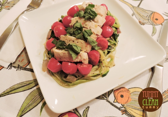 Lemon Dijonaise Chicken with Zoodles | Yummy in my Clean Tummy