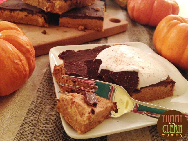 Pumpkin Mousse and Chocolate Bars 03