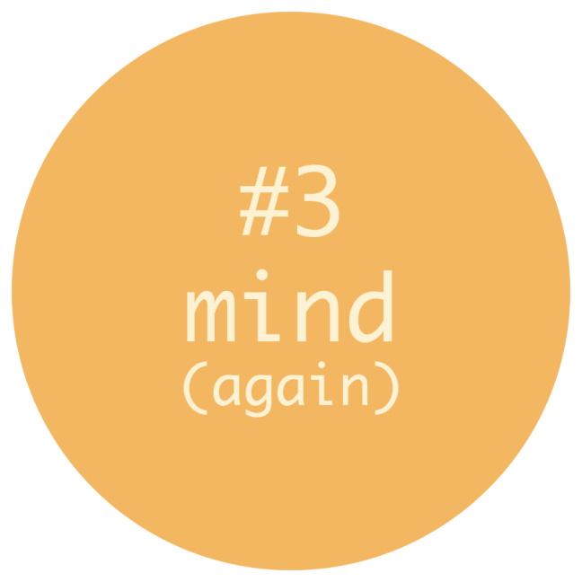 The Circle of Having a Clean Health Journey Step #3 -- MIND (again)