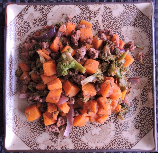 Chorizo Turkey with Roasted Broccoli and Butternut Squash