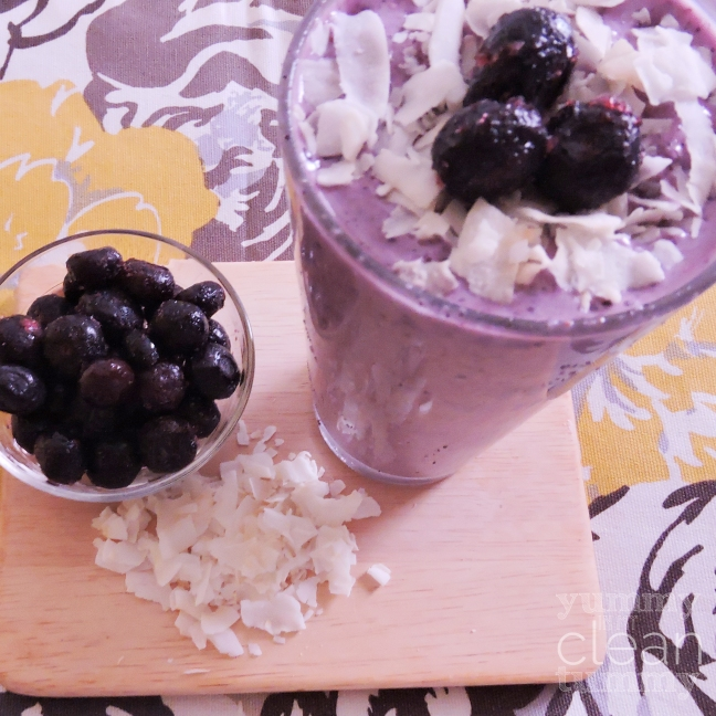 Coconut Berry Protein Smoothie | Paleo, Gluten Free & Vegan | Yummy in my Clean Tummy.com