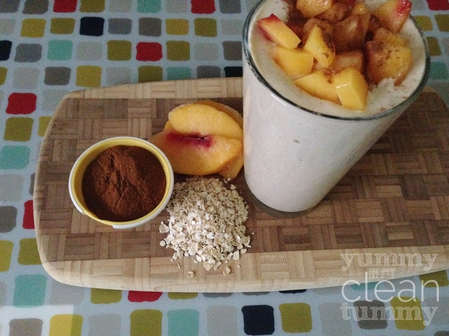 Peaches and Cream Shakeology Recipe | YummyInMyCleanTummy.com
