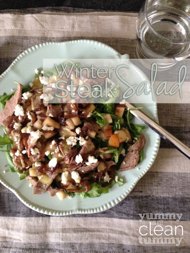 Winter Steak Salad | Organic, Paleo, Gluten Free and No Added Sugar Recipe | Yummy in my Clean Tummy
