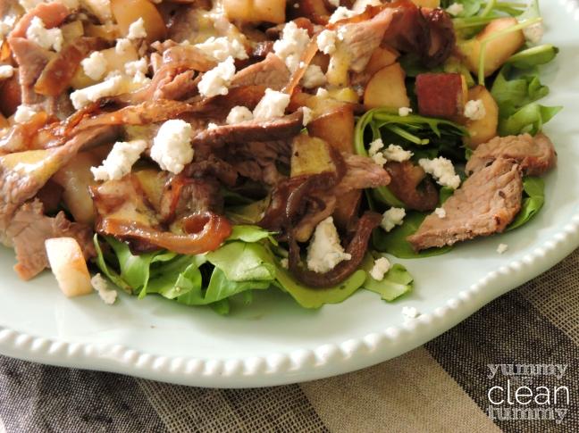 Winter Steak Salad   Organic, Paleo, Gluten Free and No Added Sugar Recipe   Yummy in my Clean Tummy